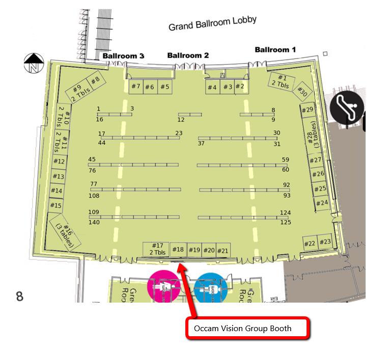 CVPR 2014 Exhibitor Map